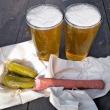 Bier, Landjäger, Gurken