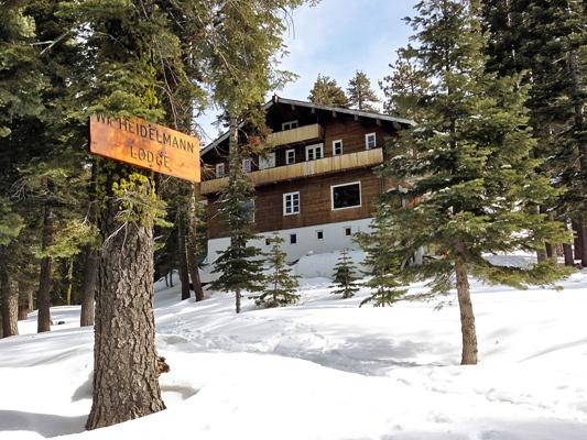 Heidelmann Lodge near Donner Summit in the Sierra Nevada